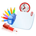 Set of school accesories vector illustration Stock Image