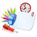 Set of school accesories vector illustration Stock Image