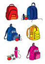 Set of school bag illustrations Royalty Free Stock Photo