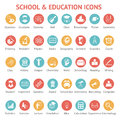 Set of school and education icons Royalty Free Stock Photo