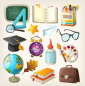 Set of school items back to Stock Photo