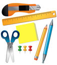 Set of school supplies Stock Photo