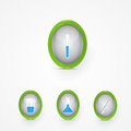Set of science icons vector Royalty Free Stock Photography