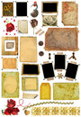 A set of scrap elements, photo edges Royalty Free Stock Photo
