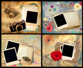 Set of scrapbook frames Royalty Free Stock Photo