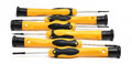 Set of screwdrivers with yellow and black handle Royalty Free Stock Image