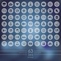 Set of sea icons Royalty Free Stock Photo