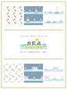 Set of 6 sea seamless patterns. The sea is calling.