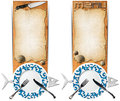 Set of Seafood Banners Royalty Free Stock Photo