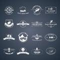 Set of seafood logos.