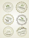 Set of seals, logo food safety, vector Royalty Free Stock Photo