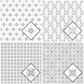 Set of seamless background pattern can be used for wallpaper website textile printing Stock Photo