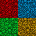 Set of seamless backgrounds with multicolored hear Royalty Free Stock Photo