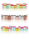 Set seamless buildings reflection patterns Stock Photography