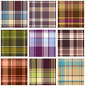 Set of seamless checkered pattern Stock Photo