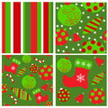 Set of seamless christmas patterns a Stock Images