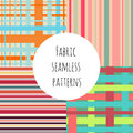 Set of seamless colorful patterns for textile prints.