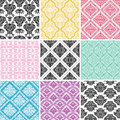 Set seamless damask backgrounds great web page background Stock Image