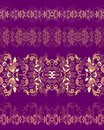 Set of seamless decorative border patterns for scrapbook paper design batik cards decoupage Royalty Free Stock Photo