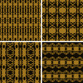 Set seamless decorative pattern design luxury wallpaper vector Royalty Free Stock Photography