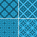 Set seamless decorative pattern design wallpaper vector Royalty Free Stock Photography
