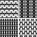 Set seamless decorative pattern elegant Stock Photo