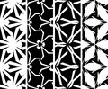 Set seamless decorative pattern illustration Royalty Free Stock Images