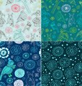 Set of Seamless doodle background Royalty Free Stock Photography