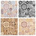 Set of seamless ethnic ornaments vector illustration Stock Photography