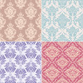 Set seamless floral pattern vector illustration Royalty Free Stock Photos