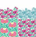 Set of seamless floral patterns decorative pattern for scrapbook paper design batik cards decoupage Stock Images