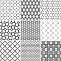 Set of Seamless Geometric Backgrounds