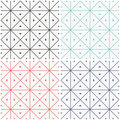 Set of seamless geometric patern. Royalty Free Stock Photo