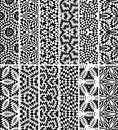 Set seamless geometric pattern decorative Stock Image
