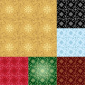 Set - seamless geometrical patterns - eps Stock Photos