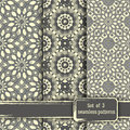 Set of seamless hand drawn mandala patterns. Vintage elements in