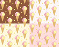 Set seamless with ice cream vector illustration Royalty Free Stock Images