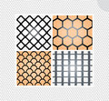 Set of seamless lace patterns Stock Photo