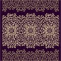Set of seamless laced border patterns decorative arabic Stock Images