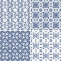 Set of seamless laced patterns decorative pattern for scrapbook paper design batik cards decoupage Stock Images