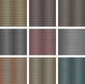 Set of seamless metal backgrounds Royalty Free Stock Photography