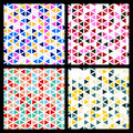 Set of seamless mosaic triangle pattern. Vector geometric backgr