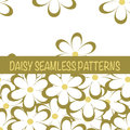 Set of seamless naive minimalistic patterns with little flowers.