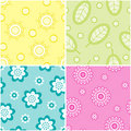 Set of seamless nature patterns Stock Photo