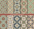 Set of seamless oriental patterns