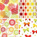 Set of seamless ornaments Royalty Free Stock Photo