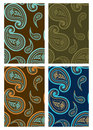 Set of seamless paisley backgrounds Stock Image