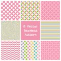 Set 8  seamless pattern Royalty Free Stock Photo