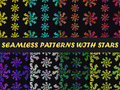 Set of seamless pattern in boho style. Colorful abstract patterns. The pattern for wallpaper, bedding, tile, fabric, backgrounds. Royalty Free Stock Photo