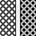 Set of seamless pattern with chamomile. vector